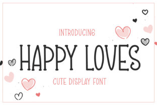 Print on Demand: Happy Loves Script & Handwritten Font By OKEVECTOR