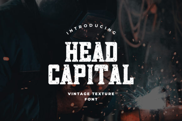 Print on Demand: Head Capital Slab Serif Font By uicreativenet