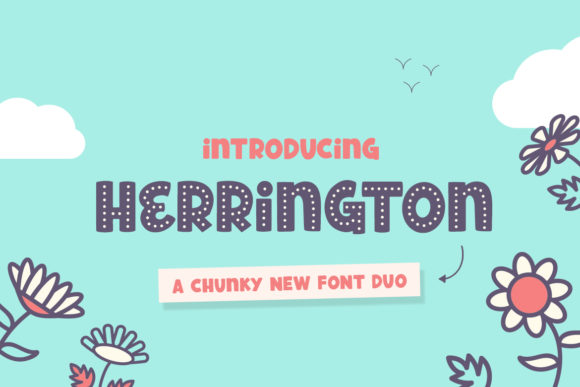 Print on Demand: Herrington Display Font By Salt & Pepper Designs