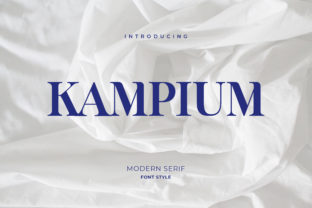 Print on Demand: Kampium Slab Serif Font By uicreativenet