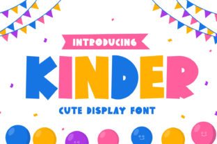Print on Demand: Kinder Display Font By OKEVECTOR