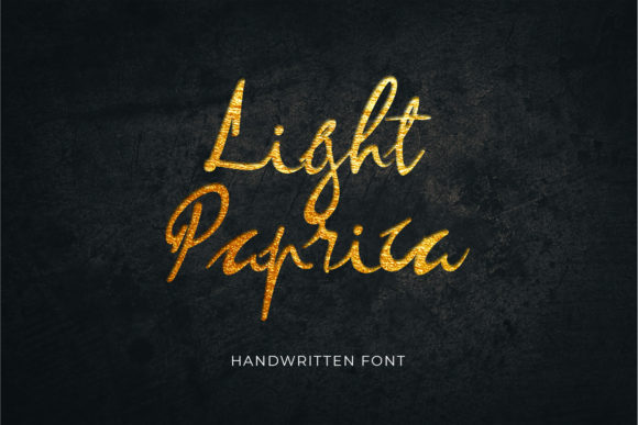 Print on Demand: Light Paprica Script & Handwritten Font By uicreativenet