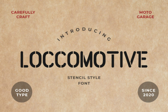 Print on Demand: Loccomotive Display Font By uicreativenet
