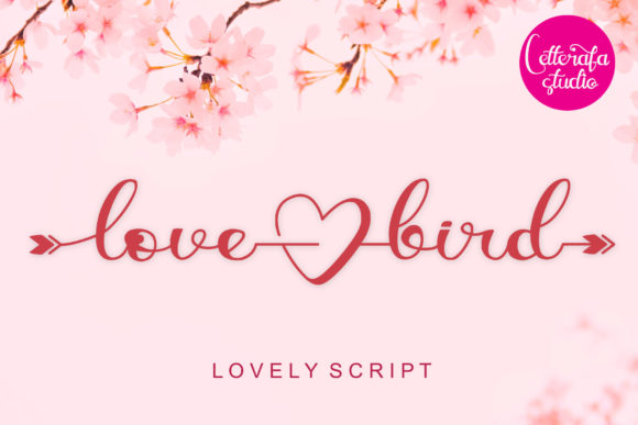 Print on Demand: Lovebird Script & Handwritten Font By Letterafa Studio