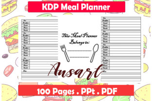 Print on Demand: Meal Planner KDP Interior Graphic KDP Interiors By Ansart