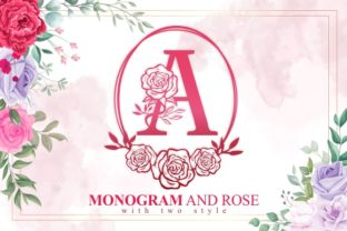 Print on Demand: Monogram and Rose Decorative Font By EKNOJI