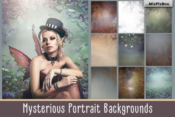 Print on Demand: Mysterious Portrait Backgrounds Graphic Layer Styles By MixPixBox