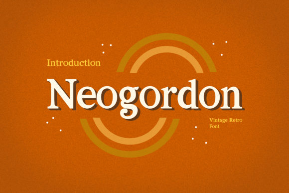Print on Demand: Neogordon Serif Font By uicreativenet