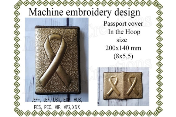 Passport Cover Sewing & Crafts Embroidery Design By ImilovaCreations