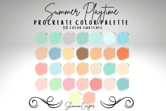 Print on Demand: Pastel Color Palette for Procreate Graphic Actions & Presets By Shannon Casper