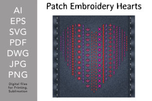 Patch Embroidery Heart Graphic Print Templates By digitalEye