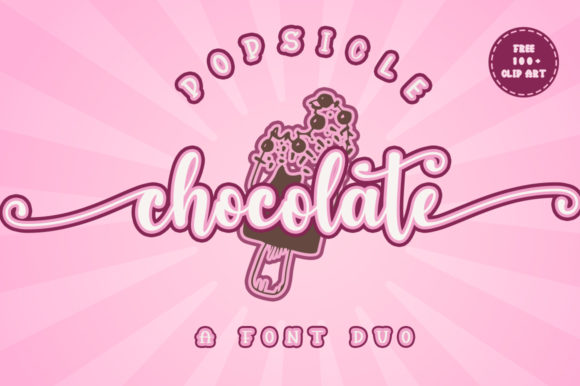 Print on Demand: Popsicle Chocolate Script & Handwritten Font By Fadlilah Studio