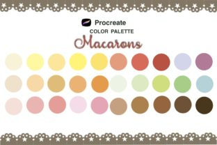 Print on Demand: Procreate Color Palette,macaron Colors Graphic Brushes By Richy Bunny
