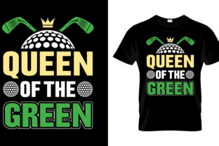 Print on Demand: Queen of the Green T Shirt Design Graphic Print Templates By merchbundle