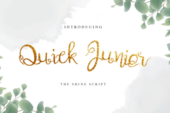 Print on Demand: Quick Junior Script & Handwritten Font By uicreativenet