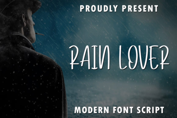 Print on Demand: Rain Lover Script & Handwritten Font By rangkaiaksara
