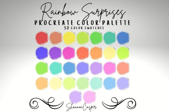 Print on Demand: Rainbow Color Palette for Procreate Graphic Actions & Presets By Shannon Casper