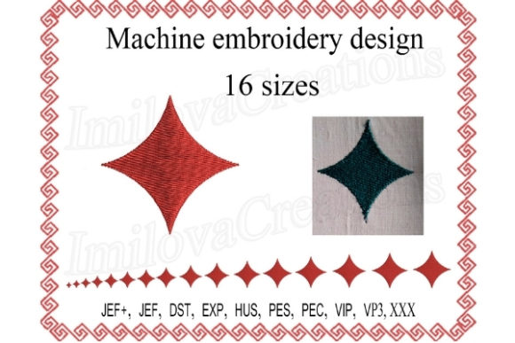 Rhombus Sewing & Crafts Embroidery Design By ImilovaCreations