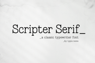 Print on Demand: Scripter Serif Font By Typia Nesia