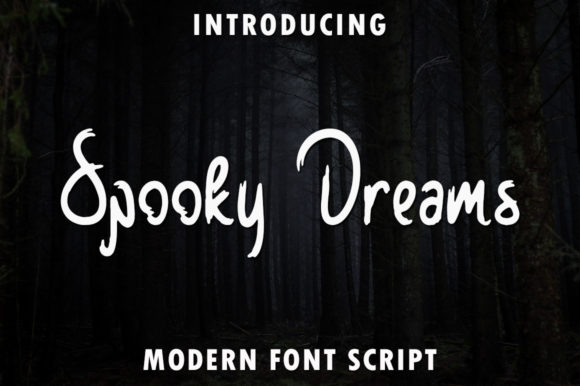 Print on Demand: Spooky Dreams Script & Handwritten Font By rangkaiaksara