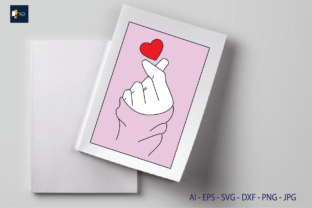 Print on Demand: Sublimation Love , Finger Heart Graphic Illustrations By Na Punya Studio