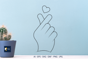 Print on Demand: Sublimation Love ,finger Heart Graphic Illustrations By Na Punya Studio