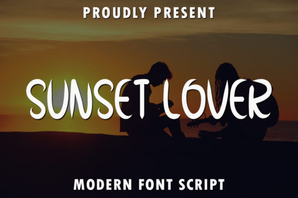 Print on Demand: Sunset Lover Script & Handwritten Font By rangkaiaksara