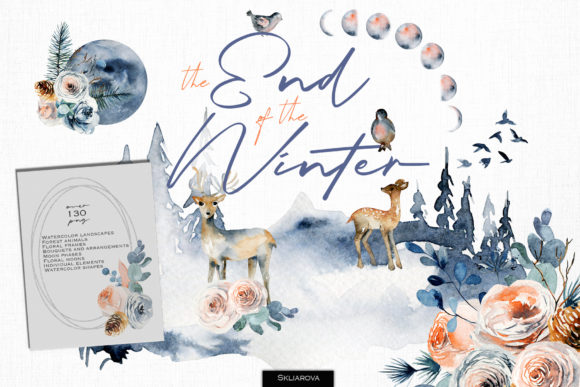 The End of the Winter Graphic Illustrations By HappyWatercolorShop