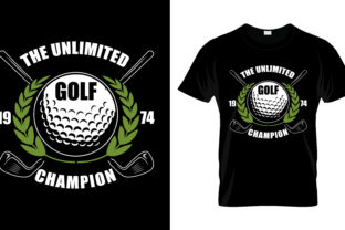 Print on Demand: The Unlimited Golf T Shirt Design Vector Graphic Print Templates By merchbundle