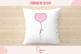 Valentine Balloon Aplique Valentine's Day Embroidery Design By carasembor