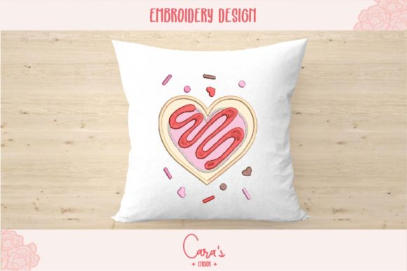 Valentine Cookie Aplique Valentine's Day Embroidery Design By carasembor