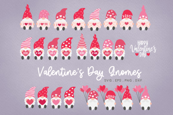 Valentine's Day Gnome SVG Png Clipart Graphic Crafts By peachycottoncandy