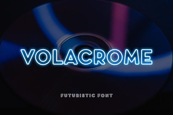 Print on Demand: Volacrome Display Font By uicreativenet