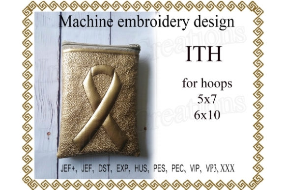 Zip Bag in the Hoop Sewing & Crafts Embroidery Design By ImilovaCreations