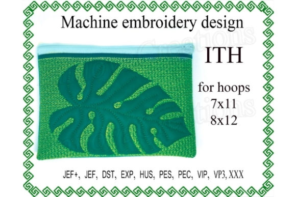 Zipper Bag in the Hoop Sewing & Crafts Embroidery Design By ImilovaCreations