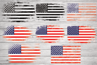 Print on Demand: American Flag Grunge, Vintage Usa Flag Graphic Illustrations By rayan