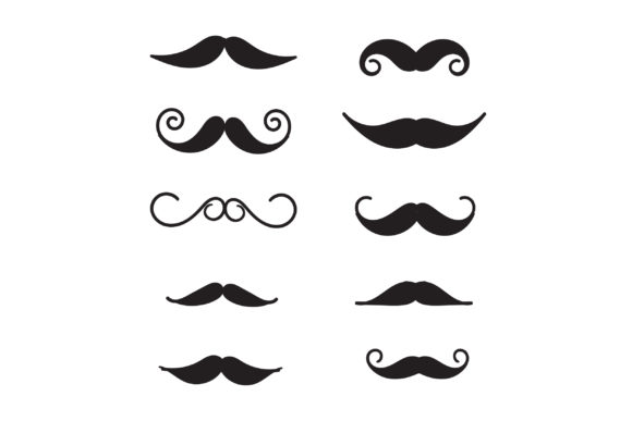 Print on Demand: Doodle Mustache Graphic Illustrations By GwensGraphicstudio