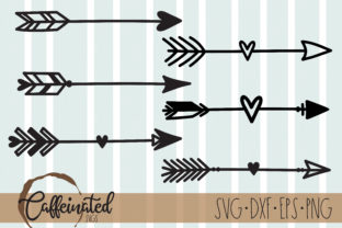 Arrows - Heart Arrow Cut File Graphic Crafts By kaitlynplynch