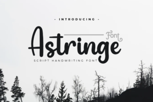 Print on Demand: Astringe Script & Handwritten Font By twinletter
