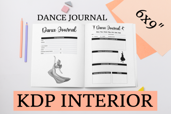 Print on Demand: Dance Journal | KDP Interior Graphic KDP Interiors By KDP Mastermind