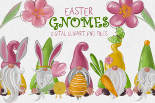 Easter Gnomes Clipart Graphic Illustrations By lena-dorosh