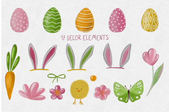 Easter Gnomes Clipart Graphic Item