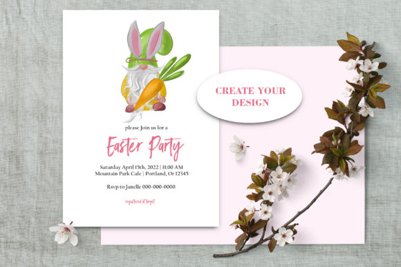 Easter Gnomes Clipart Graphic Design