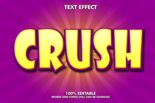 Editable Text Effect -Crush Style Graphic Layer Styles By Rizu Designs