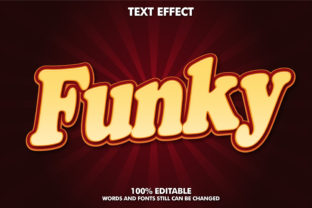 Editable Text Effect - Funky Style Graphic Layer Styles By Rizu Designs