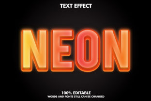 Editable Text Effect - Neon Effect Graphic Layer Styles By Rizu Designs