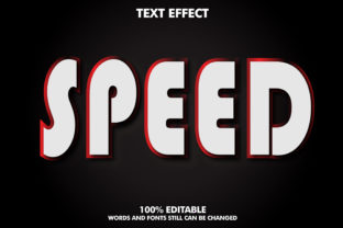 Editable Text Effect - Speed Effect Graphic Layer Styles By Rizu Designs