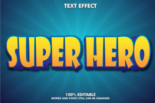 Editable Text Effect - Super Hero Style Graphic Layer Styles By Rizu Designs