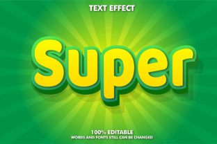 Editable Text Effect - Super Style Graphic Layer Styles By Rizu Designs