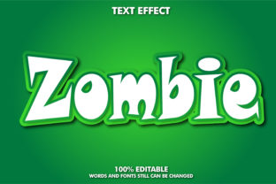 Editable Text Effect - Zombie Effect Graphic Layer Styles By Rizu Designs